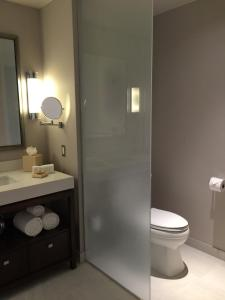 A bathroom at The Bicycle Hotel & Casino