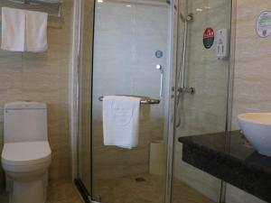 Ванная комната в GreenTree Inn Suzhou Hanshan Temple Binhe Road Subway Station Business Hotel