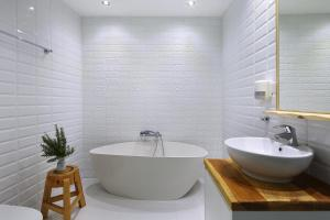 A bathroom at Palatakia - Adults Only