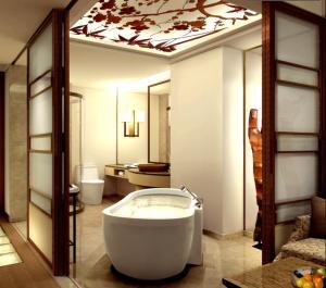 Ein Badezimmer in der Unterkunft Harriway Garden Hotel
