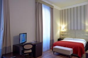 Cama o camas de una habitación en Hotel Termas Balneario Termas Pallares