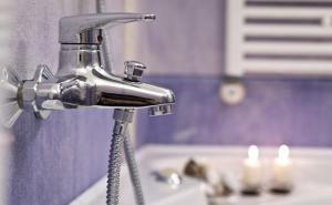 A bathroom at Hotel Arcadia