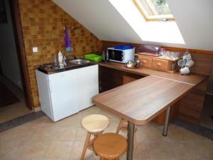 Kuchnia lub aneks kuchenny w obiekcie Pokoje Gościnne Na Skraju Lasu