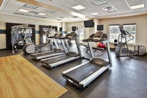 The fitness centre and/or fitness facilities at Hampton Inn & Suites - Cape Cod / West Yarmouth