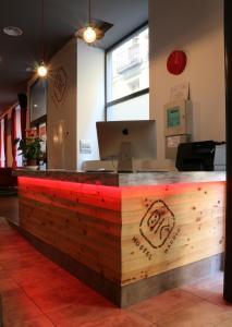 The lobby or reception area at Ok Hostel Madrid