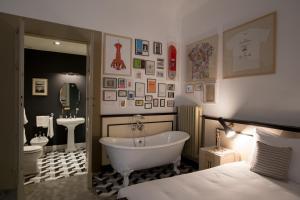 A bathroom at AdAstra Suites