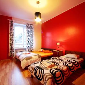 Voodi või voodid majutusasutuse Viru Backpackers Hostel toas