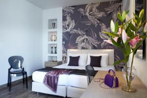 Letto o letti in una camera di Mouikis Hotel Kefalonia