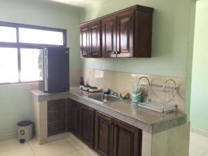 A kitchen or kitchenette at Hotel Lleras - Aparthotel
