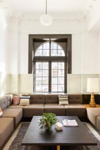 A seating area at Ace Hotel Pittsburgh