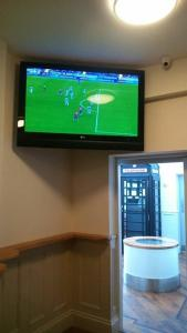 A television and/or entertainment center at The Buck Hotel
