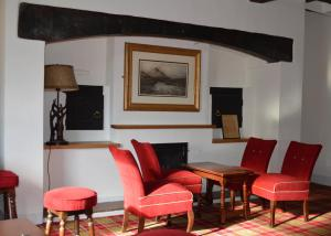 A seating area at The Buck Hotel