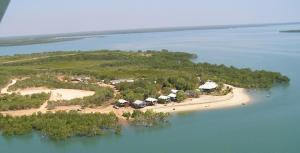 A bird's-eye view of Crab Claw Island