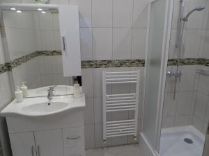 A bathroom at Alabárdos Panzió és Apartmanház