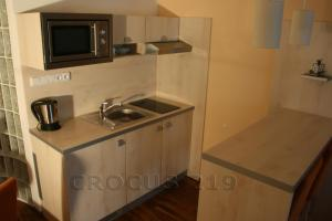 A kitchen or kitchenette at Apartmán Štrbské Pleso - Crocus 219