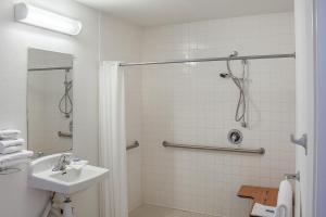 A bathroom at Motel 6-Ukiah, CA