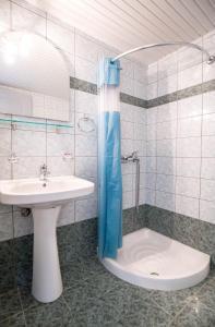 A bathroom at Galini Beach Hotel