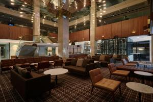 The lounge or bar area at Hilton Adelaide