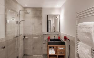 Ein Badezimmer in der Unterkunft Hotel Traumschmiede