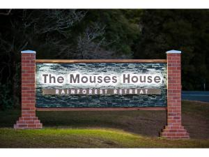 The logo or sign for the lodge