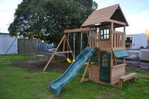 Children's play area at Wattle Motel