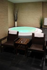Bazén v ubytování Vila Jiřinka nebo v jeho okolí