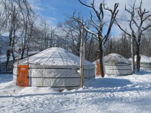 Dobogókő Jurtaszállás during the winter