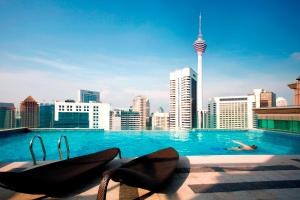 The swimming pool at or near Fraser Place Kuala Lumpur