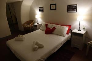 Cama o camas de una habitación en Appartamento Santo Spirito