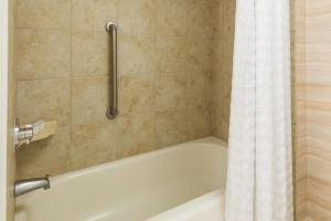 A bathroom at Homewood Suites by Hilton Orlando-Nearest to Universal Studios