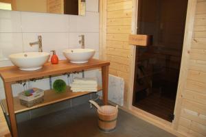Ванная комната в Ferienhaus Fuhr
