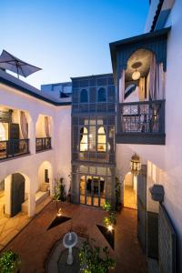 The lounge or bar area at Riad Adore