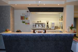 The lounge or bar area at Canadian Hotel