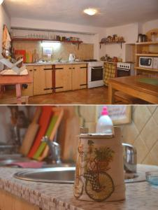 A kitchen or kitchenette at Freedom Hostel Budva