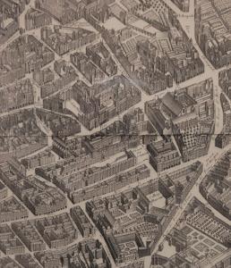 Een luchtfoto van Hôtel des 3 Collèges
