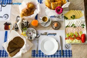 Breakfast options available to guests at Hotel Prestige