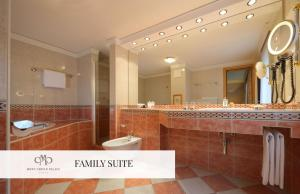 A bathroom at Mont Cervin Palace