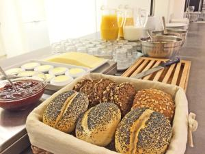 Breakfast options available to guests at BB-Hotel Rønne Bornholm