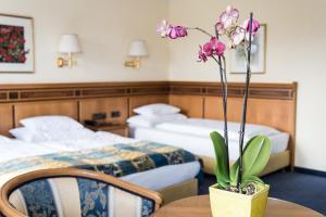 Ein Bett oder Betten in einem Zimmer der Unterkunft Hotel Mondschein