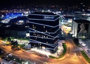 Widok z lotu ptaka na obiekt Radisson Blu Plaza Hotel Ljubljana