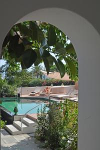 The swimming pool at or near Il Gabbiano Relais in Stromboli