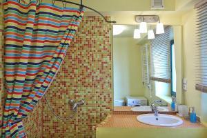 Koupelna v ubytování Apartmány Milenium