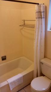 A bathroom at Grays Harbor Inn & Suites