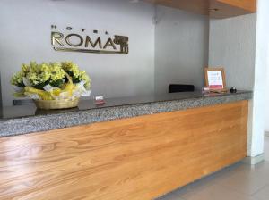 El vestíbulo o zona de recepción de Hotel Roma