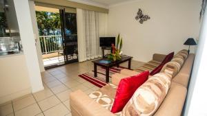 A seating area at Melaleuca Resort