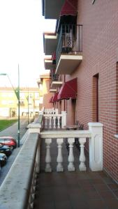 A balcony or terrace at Hotel Alfageme