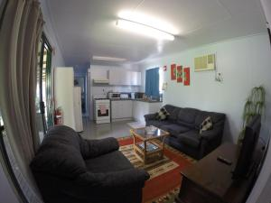 A seating area at Anchorage Weipa