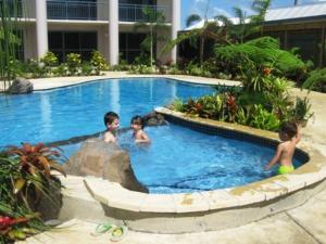 The swimming pool at or near Amanaki Hotel