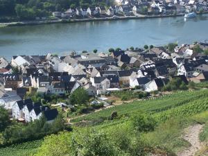 Een luchtfoto van Gasthaus Rebstock