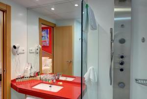 A bathroom at Platjador